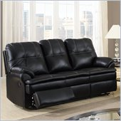 Global Furniture USA 1078 Motion Sofa in Black Microfiber