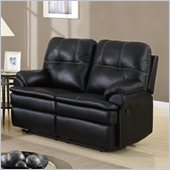 Global Furniture USA 1078 Motion Loveseat in Black Microfiber