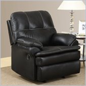 Global Furniture USA 1078 Rocker Recliner Chair in Black Microfiber