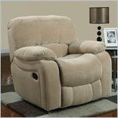 Global Furniture USA 2007 Glider Recliner Chair in Champion Froth