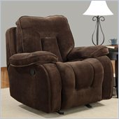 Global Furniture USA 3090 Glider Recliner Chair in Champion Chocolate