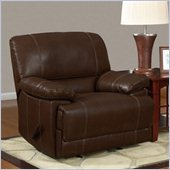 Global Furniture USA 9963 Rocker Recliner Chair in Rodeo Brown Bonded Leather