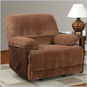 Global Furniture USA 9968 Rocker Recliner Chair in Champion Brown Sugar