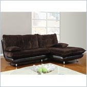 Global Furniture USA 3613 2 Piece Sectional in Champion Chocolate