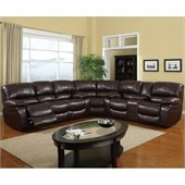 Global Furniture USA 8122 3 Piece Sectional in Burgundy Leather