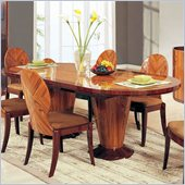 Global Furniture D92 Oval Dining Table with Extension in Kokuten