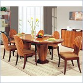Global Furniture D92 7 Piece Dining Set in Kokuten