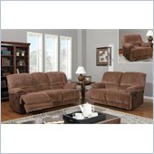 Global Furniture USA 9968 3 Piece Reclining Sofa Set in Champion Brown Sugar