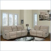 Global Furniture USA 2007 Reclining 3 Piece Sofa Set in Champion Froth