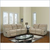 Global Furniture USA 2007 Reclining 2 Piece Sofa Set in Champion Froth