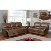 Global Furniture USA 9963 Reclining 3 Piece Sofa Set in Rodeo Brown