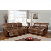Global Furniture USA 9963 Reclining 2 Piece Sofa Set in Rodeo Brown