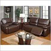 Global Furniture USA 1027 Power Reclining 2 Piece Sofa Set in Brown