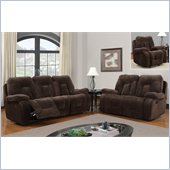 Global Furniture USA 3090 Recliner 3 Piece Sofa Set in Chocolate