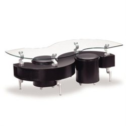 Global Furniture Coffee Table with Cushions in Black