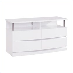 Global Furniture Aurora Entertainment Unit in White