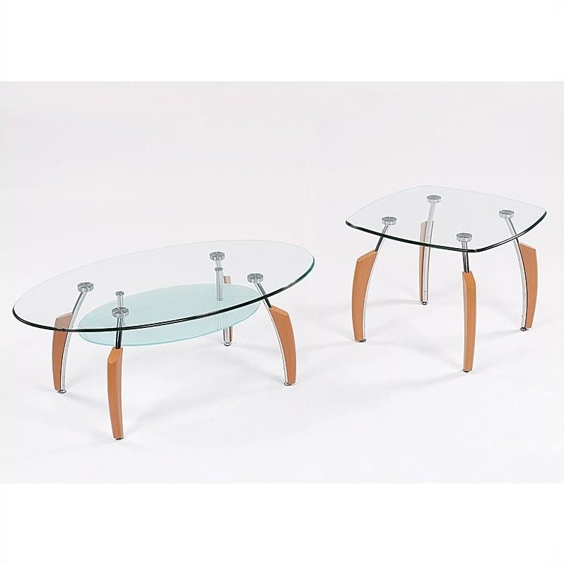 Francis 2 Piece Coffee Table Set in Natural Light Cherry
