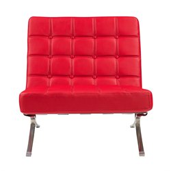 Global Furniture Natalie Leather Accent Chair in Red