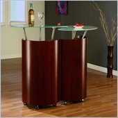 Global Furniture USA Steven Mahogany Home Bar Cabinet