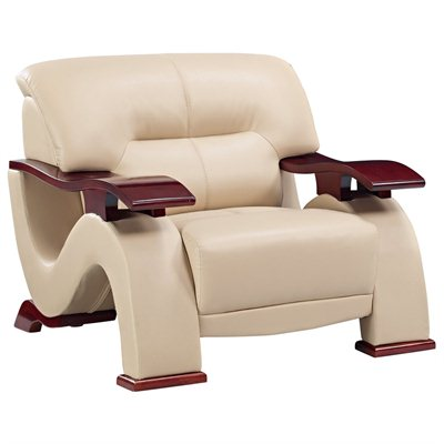 Global Furniture USA 2033 Chair in Cappuccino Leather Match