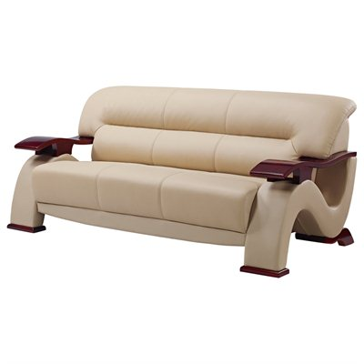 Global Furniture USA 2033 Sofa in Cappuccino Leather Match