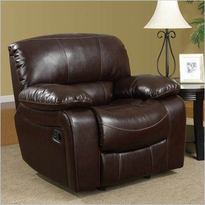Global Furniture USA 8122 Glider Recliner Chair in Burgundy Leather