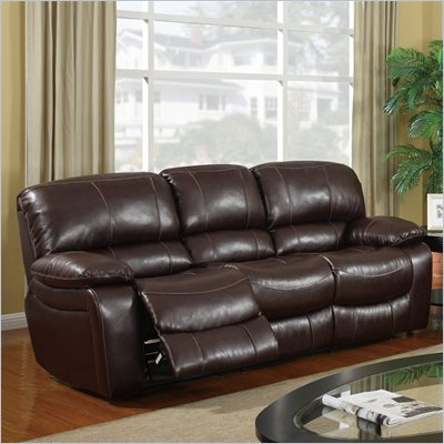 Global Furniture USA 8122 Reclining Sofa in Burgundy Leather