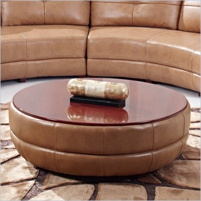 Global Furniture USA 918 Cocktail Table Ottoman in Mahogany / Honey