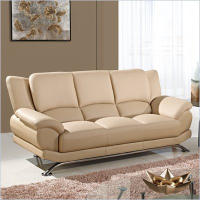 Global Furniture USA 9908 Sofa in Cappuccino with Chrome Legs