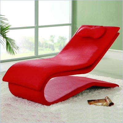 Bedroom Chaise on Not Available   Global Furniture Usa Red Vinyl Chaise Lounge   A03 R