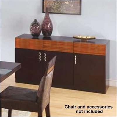 Global Furniture USA Amanda Dining Room Buffet in Zebrano and Wenge