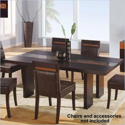 Global Furniture USA Amanda Dining Table in Wenge Finish