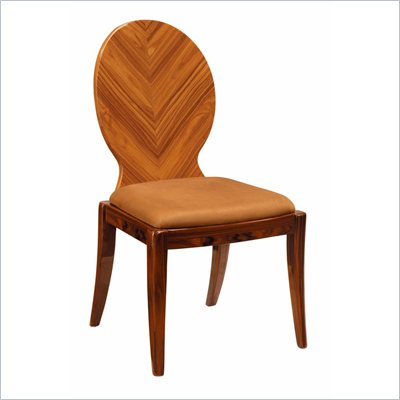 Global Furniture USA D92 Dining Side Chair in Brown and Kokuten