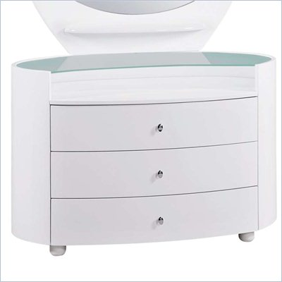 Global Furniture USA Emily Kids Single Dresser in White
