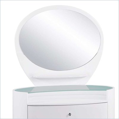 Global Furniture USA Emily Kids Mirror in White