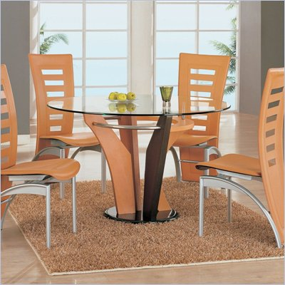 Global Furniture USA Neville 5 Piece Dining Set in Natural