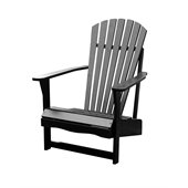 International Concepts Adirondack Chair in Black Finish