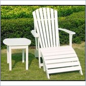International Concepts Adirondack Footrest in White Finish