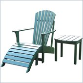 International Concepts Adirondack Footrest in Hunter Green Finish