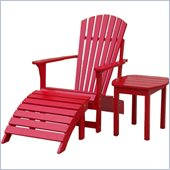 International Concepts Adirondack Sidetable in Red Finish