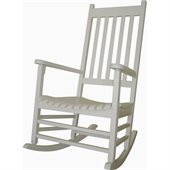 International Concepts Porch Rocker in White Finish