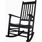 International Concepts Porch Rockers in Black Finish