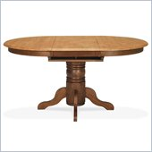 International Concepts Madison Park Single Pedestal Dining Table in Cinnamon/Espresso