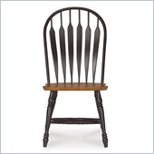 International Concepts Madison Park Windsor Side Chair in Black/Cherry