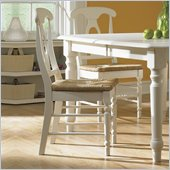 International Concepts Simply Linen Empire Wood Side Chair in White Linen (Set of 2)