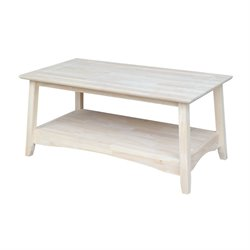 International Concepts Whitewood Bombay Rectangular Coffee Table