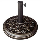 International Concepts Rose Designed Umbrella Stand in Bronze Finish