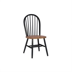 International Concepts Windsor   Dining Chair in Black and Cherry Finish