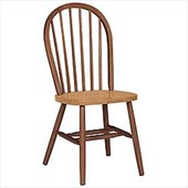 International Concepts Windsor Wood Side Chair in Cinnamon and Espresso Finish