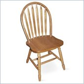 International Concepts 36 High Arrowback Wood Side Chair in Oak Finish